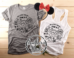 Just A Small Town Girl Living In A Disney World - Tank or Tee - Choose Colors