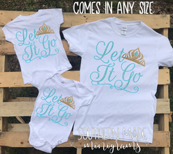 Let It Go Frozen Shirt - All Sizes and Styles - Infant Kids and Adult