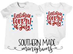 Little Miss Fourth Of July - Onesie or Tee