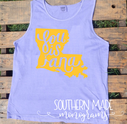 Louisiana - Comfort Colors Tank