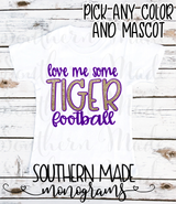 Love me some *customize* football - Customize mascot - Gildan or Comfort Color - Choose all colors