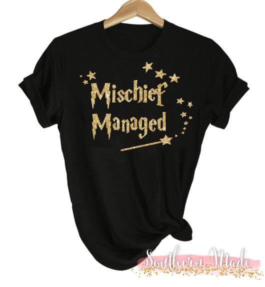 c2813ca167d Mischief Managed - Harry Potter Shirt - Gildan or Comfort Colors - Cho –  Southern Made Monograms LLC