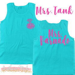 Mrs Tank - Engagment Tank - Unisex or Womens Fit - Choose All Colors