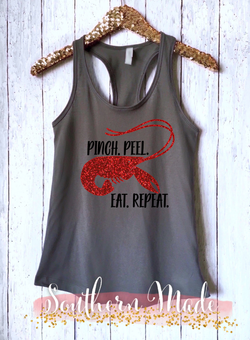 Pinch Peel Eat Repeat - Womens Racer Back or Unisex Tank