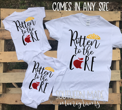 Rotten to the Core - Disney Descendents - Disney Villian - Snow White  - All Sizes and Styles - Infant Kids and Adult