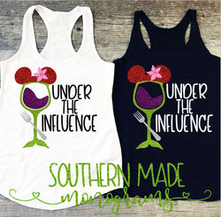 Under The Influence - Little Mermaid Drinking Shirt - Tank or Tshirt