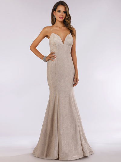 Lara 29495 - Mermaid Shimmer Gown with Low Back