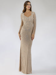 Lara 29602 - V neck embellished long dress