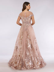 Lara 29619 - Beautiful lace applique ball gown