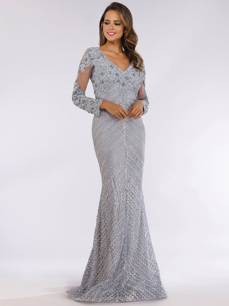 Lara 29625 -Rhinestones Mermaid long gown