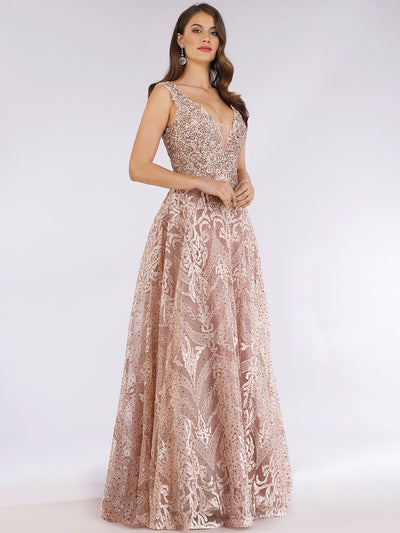 Lara 29627 - Full length sleeveless ballgown