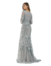Lara 29666 - Floral appliques embellished mermaid gown
