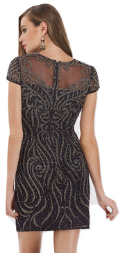 Lara 29707 - Sparkling Seed Beads Short Dress