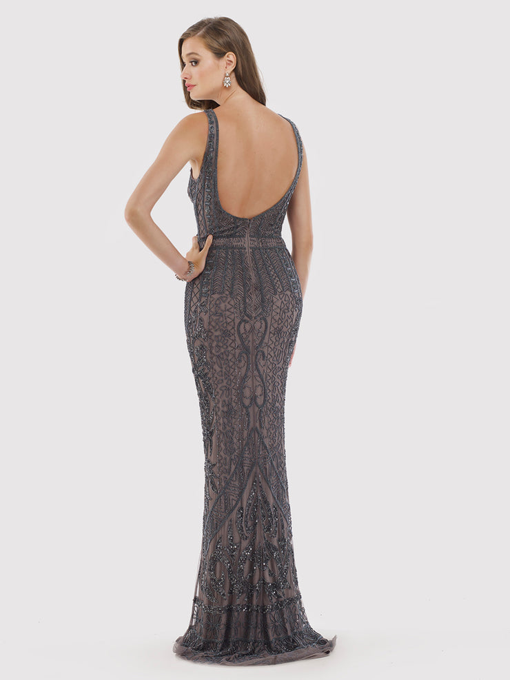Lara 29712 - Beaded and Sequined Long Dress