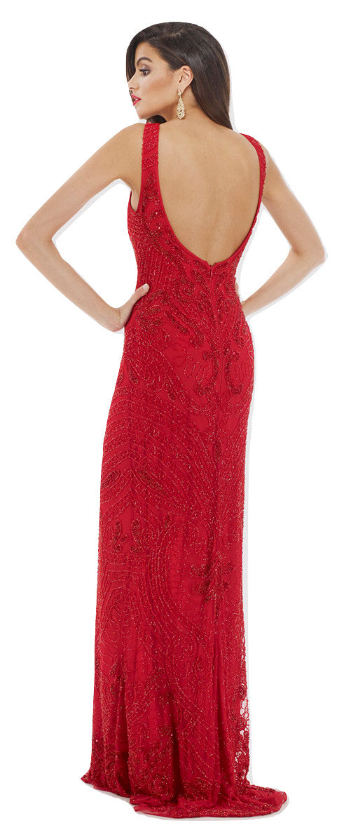 Lara 29713 - Open Back red Long Dress