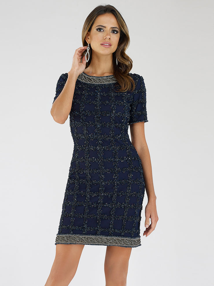 Lara 29717 - High neck short dress
