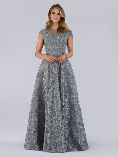 Lara 29752 - High Neck Ball Gown with Rhinestones
