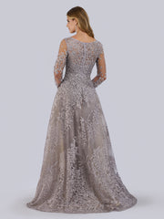 Lara 29759 - Long Sleeves Ballgown Fully Embellished