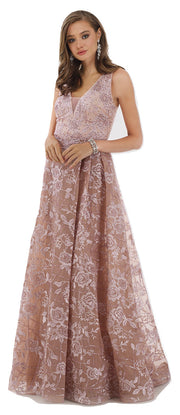 Lara 29792 - Overlap Skirt lace Ball Gown
