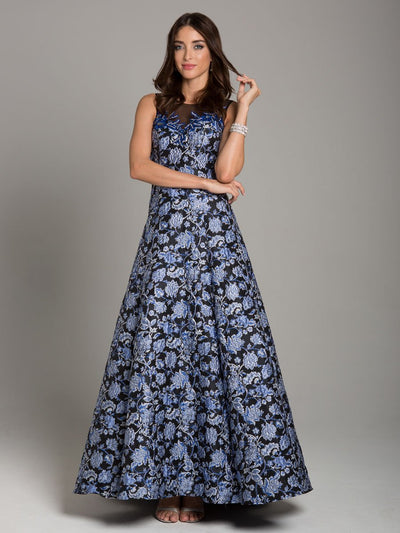 Lara 29867 - Floral Brocade Ball Gown