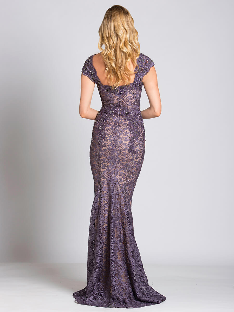 Lara 33491 - Fitted lace mermaid gown