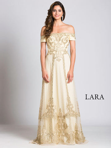Lara 29862 - Lace Column Dress with Overskirt