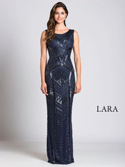 Lara 33552 - Fitted tonal sequins long dress