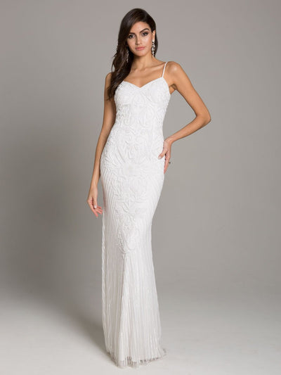 Lara 51005 - Strap shoulder fitted column dress