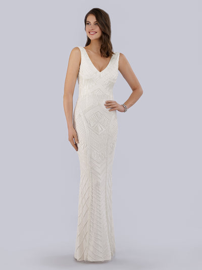 Lara 51017 - Gorgeous white long dress