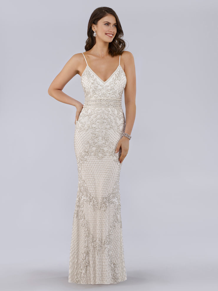 Lara 51019 - Mermaid gown with open back