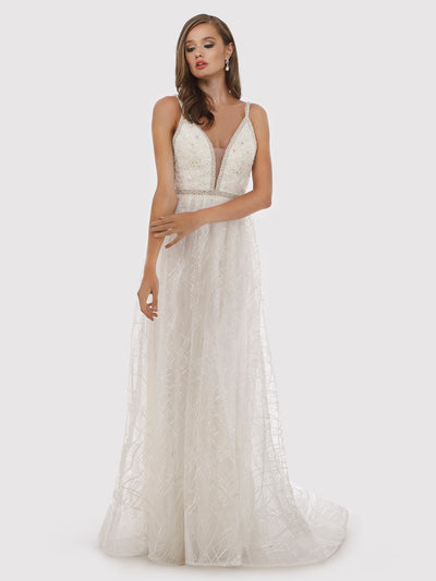 Lara 51024 - beaded lace ball gown