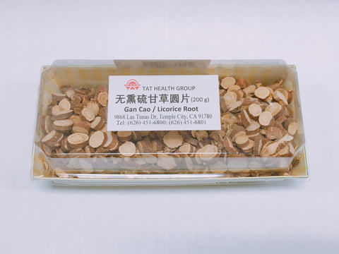 Licorice Root 無熏硫甘草圓片  (200g)