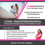 12 Weeks Purposeful Relationship Mastery with Kemi Sogunle