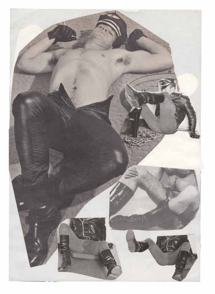 Tom of Finland, Reference pages, mixed media collage on paper, 1966-1990