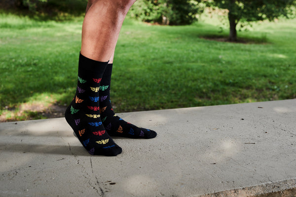 TOM OF FINLAND FLYING COCK RAINBOW SOCKS BY FINLAYSON