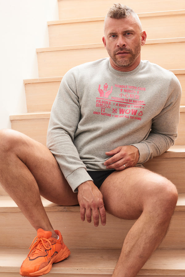 Walter Van Beirendonck - WOW HANDLE WITH CARE SWEATER - FW1920