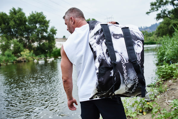 White Poster Pocket Backpack by Raf Simons x Eastpak