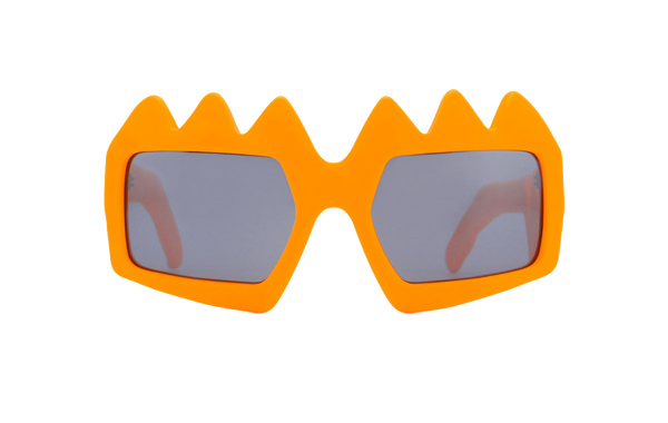 Zinnia Orange Bliksem Glasses by FAKBYFAK x Walter Van Beirendonck