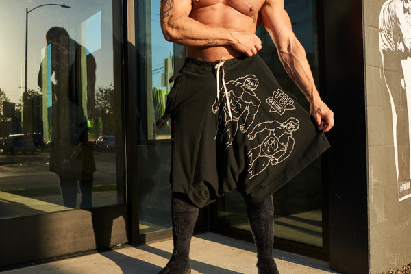 BLACK TOP BODZ SHORTS by Bernhard Willhelm A/W 19-20