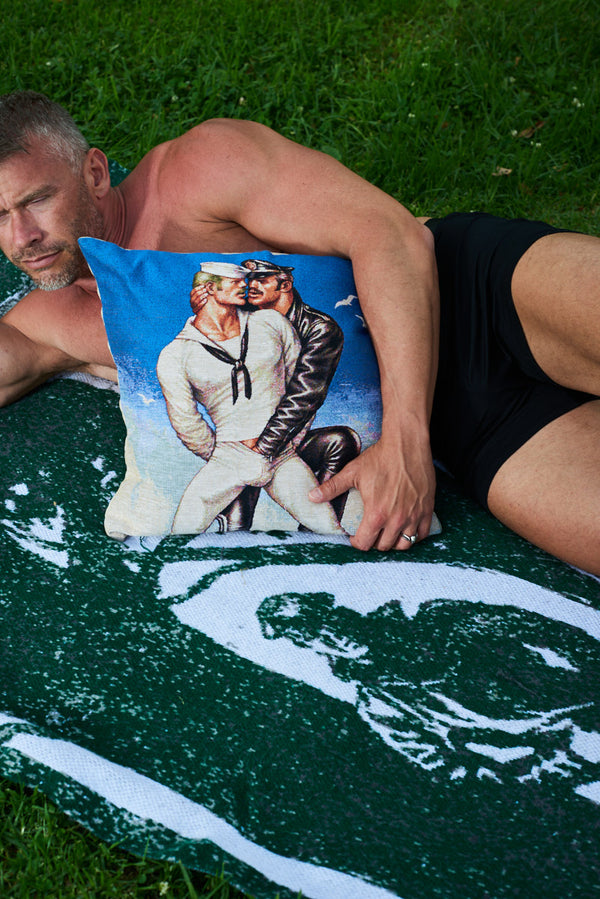 Tom of Finland Sailor / Leatherman Tapestry Pillow Cover