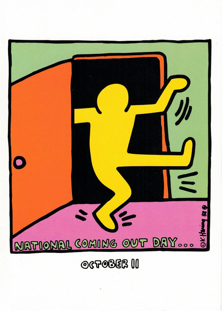 Keith Haring National Coming Out Day Greeting Card