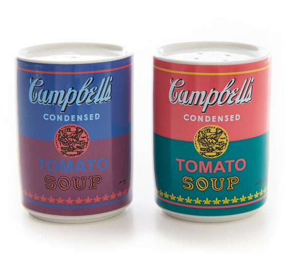 Andy Warhol Campell's Soup Can Salt & Pepper Shakers