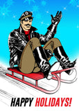 Tom of Finland SLEIGH RIDE Holiday Card by Kweer Cards