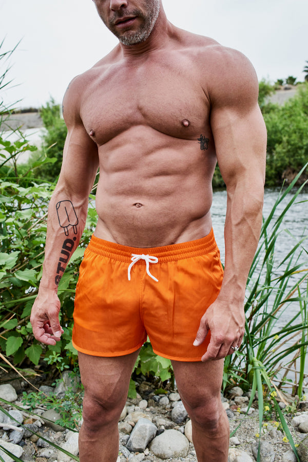 Piscina Swim Shorts by CDLP Tremezzo Orange