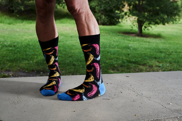 Andy Warhol x Happy Socks Black with Neon Bananas