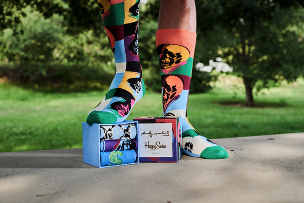 Summer 2019 Release Andy Warhol Sock Box Set by Happy Socks
