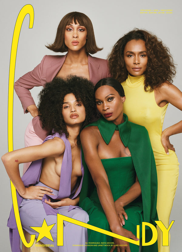 C☆NDY TRANSVERSAL 12 - MJ Rodriguez, Indya Moore, Dominique Jackson, and Janet Mock by Luke Gilford