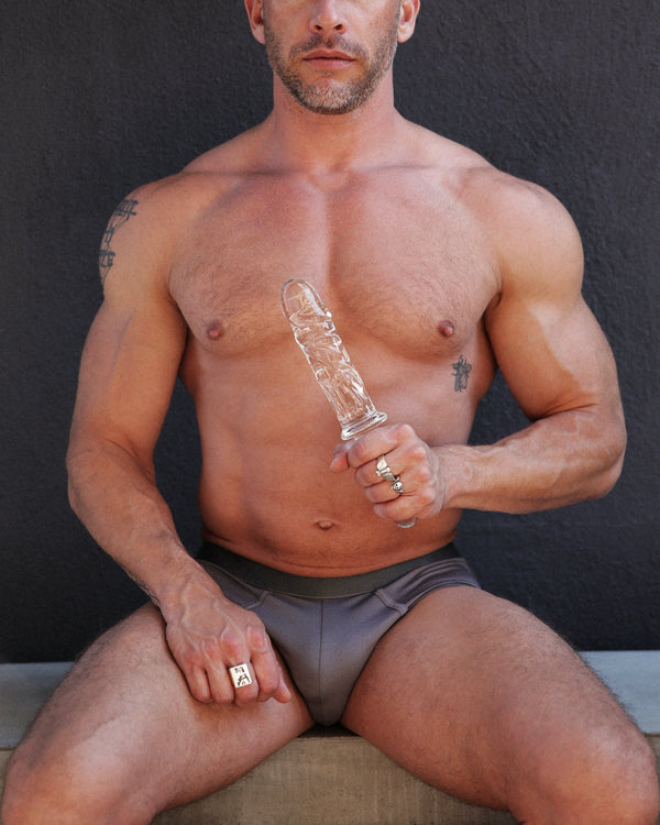 Brutus Glass Dildo Thruster