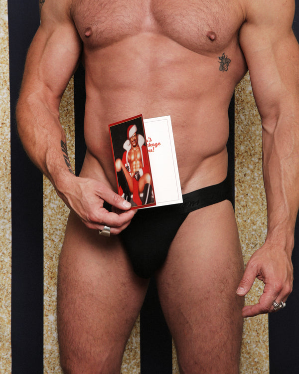 Tom of Finland SANTA'S PACKAGE Holiday Card by Kweer Cards