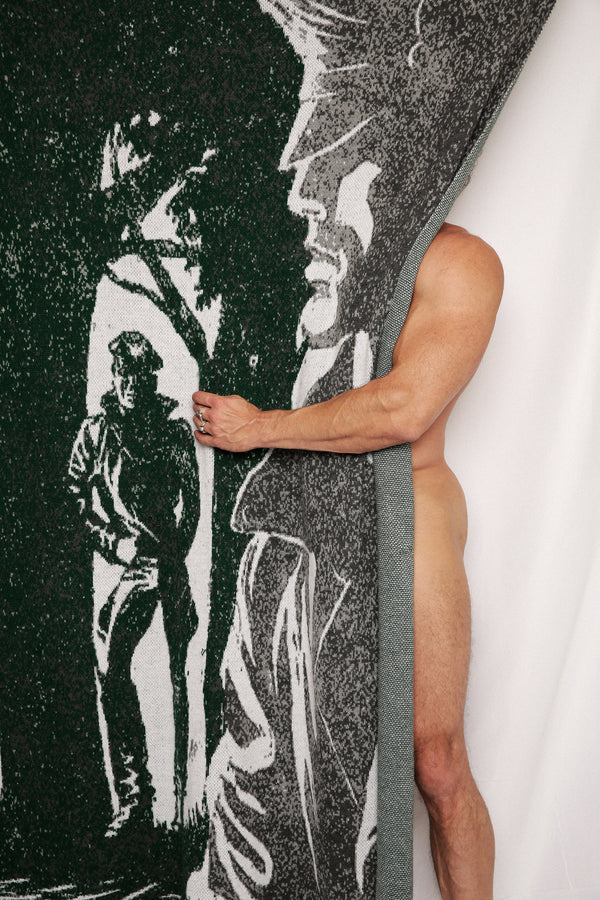Cruising In The Woods Blanket by Henzel Studio Heritage: Tom of Finland